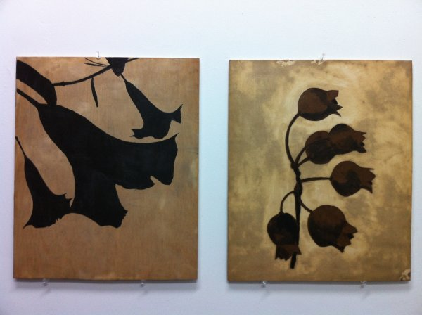 15 Two Encaustic Works